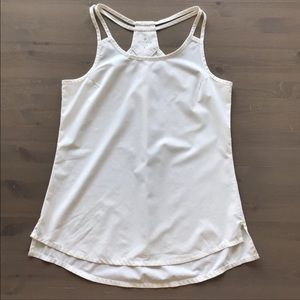 Athleta Go Time White Workout Tank Top S